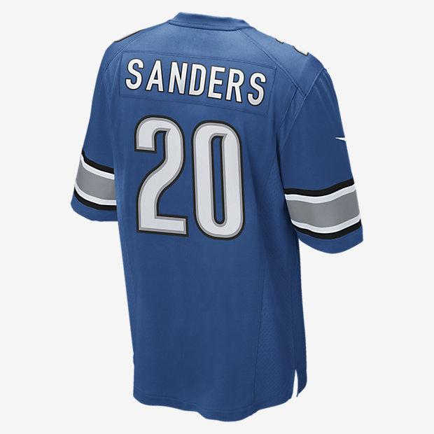 NFL Detroit Lions (Barry Sanders) Men's Football Home Game Jersey ...