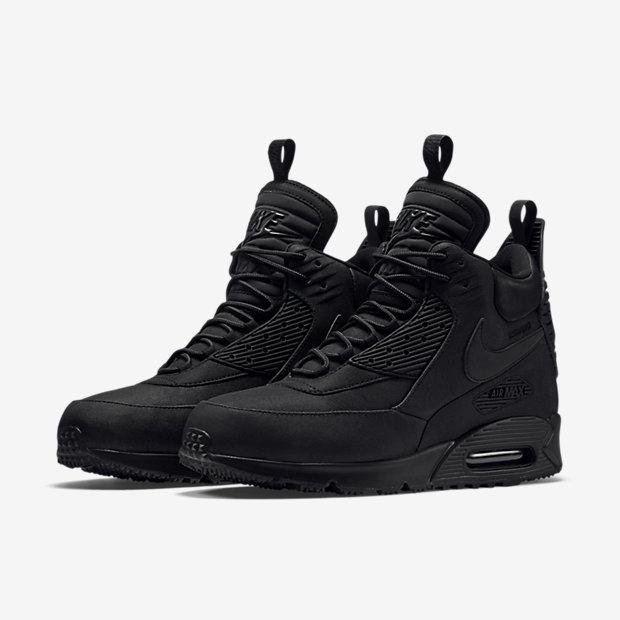 nike air max 90 black boots
