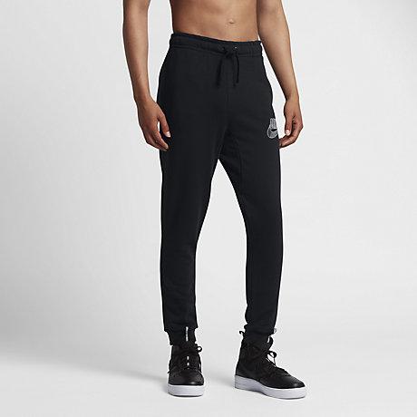 nike pantalon fuselé en tissu noir