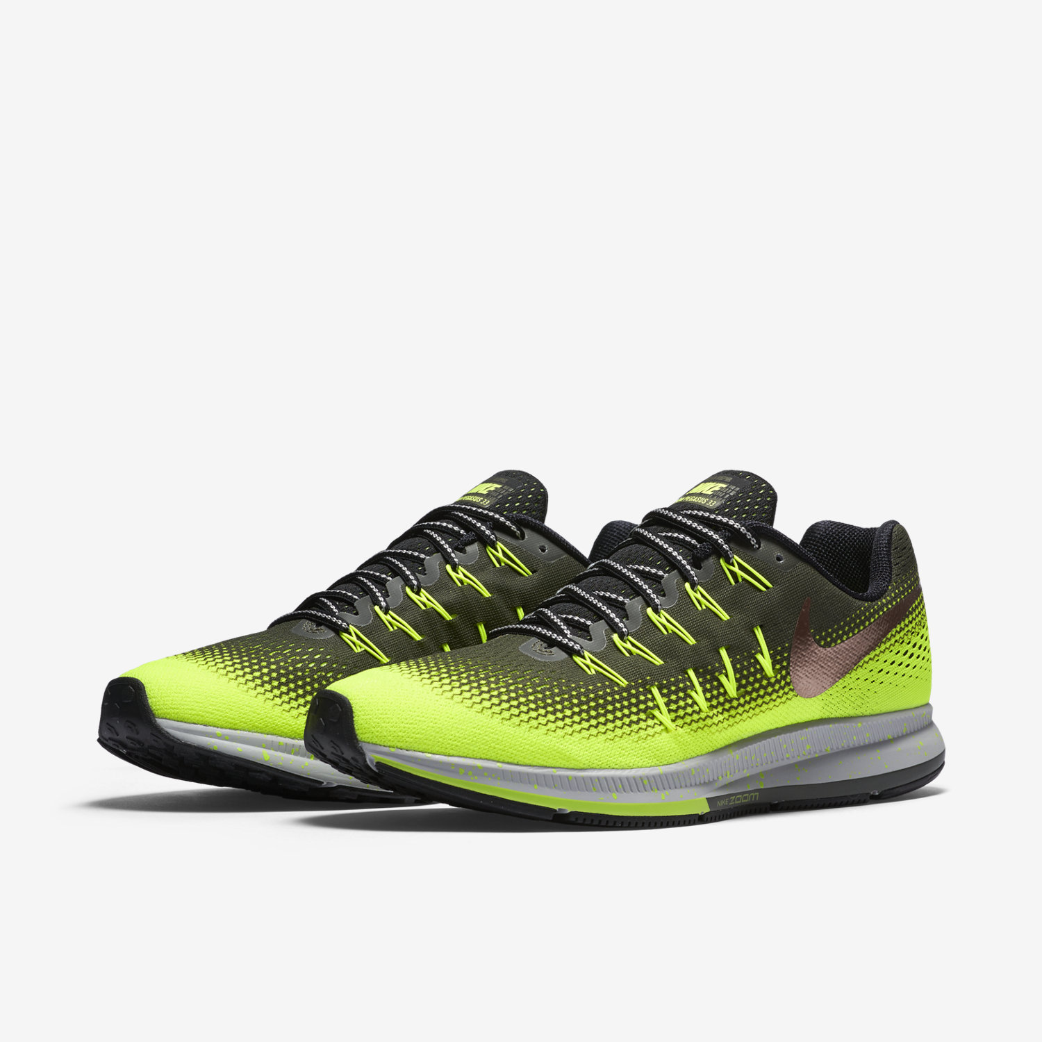 nike zoom pegasus 33 green orange