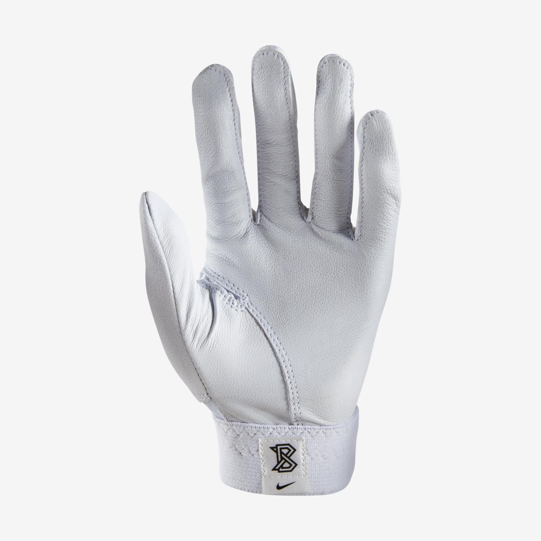 Black leather batting gloves - Black Leather Batting Gloves 47
