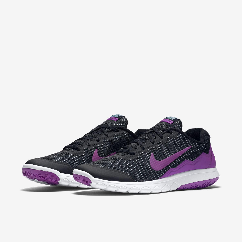 new women 39 s nike flex experience rn 4 black purple running. Black Bedroom Furniture Sets. Home Design Ideas