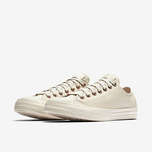 converse white and rose gold