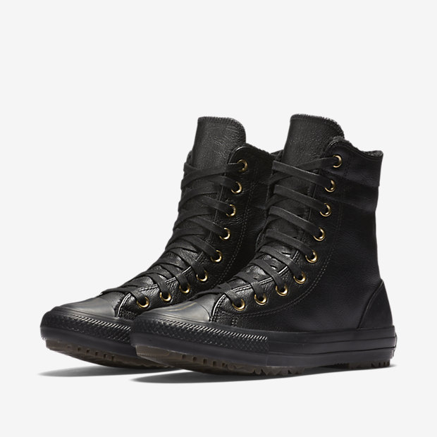 Converse Chuck Taylor All Star Leather and Faux Fur High Rise ...