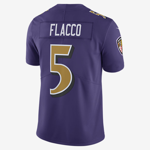 nfl baltimore ravens color rush limited joe flacco mens football jersey nikecom