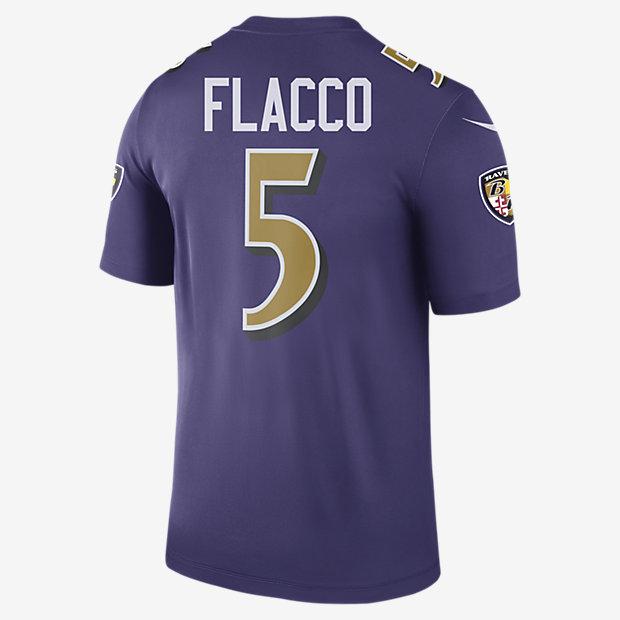 nfl baltimore ravens color rush legend joe flacco mens football jersey nikecom