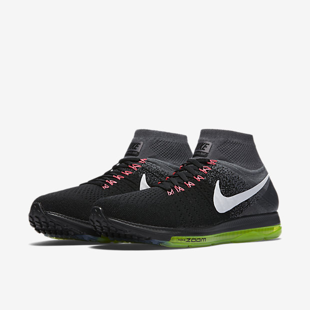 official photos 8607a a2d0a Color BlackCool GreyVoltWhite Style 844134-002 Nike Air Zoom All Out Flyknit  Mens Running Shoe.