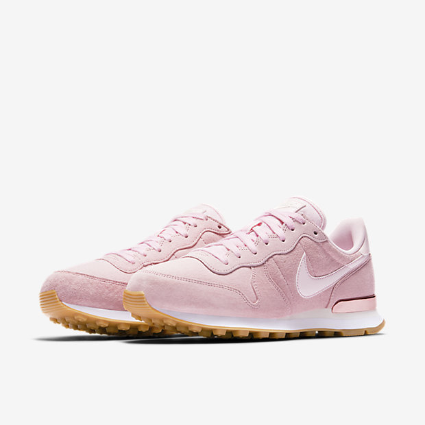 nike internationalist rose gold