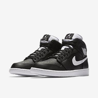 air jordan 1 mid men's shoe black
