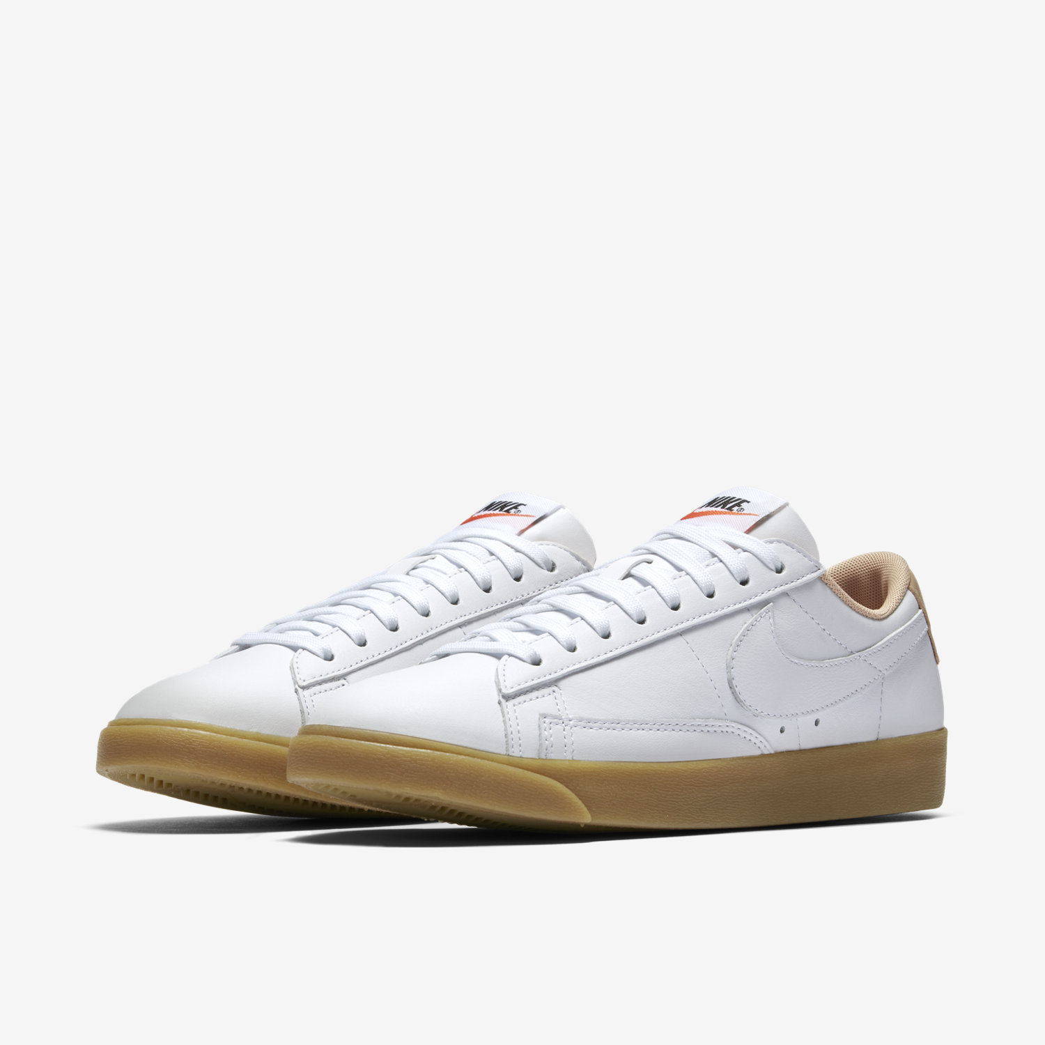 Nike Blazer Low Classic AC ND Suede chaussures Beige Rouge Homme Nike Blazer Rouge Cuir