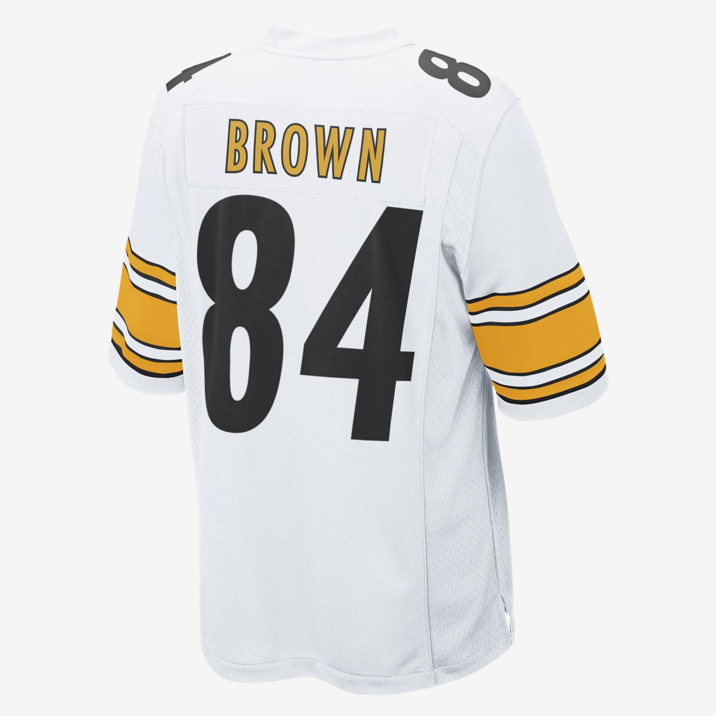 ca431351ecf ... NFL Pittsburgh Steelers (Antonio Brown) Mens Football Away Game Jersey.  Nike.com Mens Elite ...