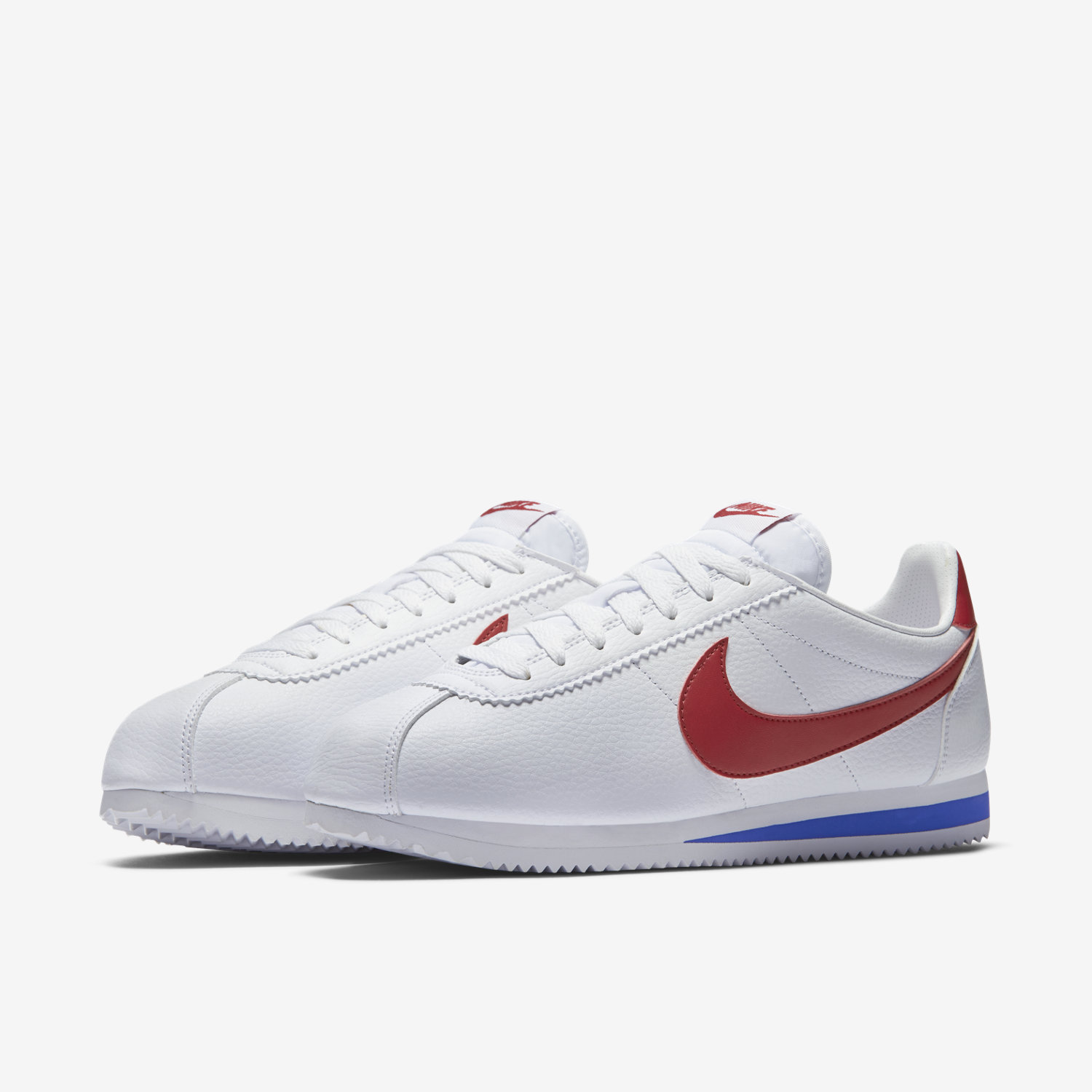 Usa Leather White Basket Leather Nike acheter Cortez 5jq43RAL