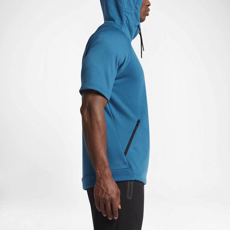 Nike Dry Men's Short Sleeve Training Hoodie. Nike.com