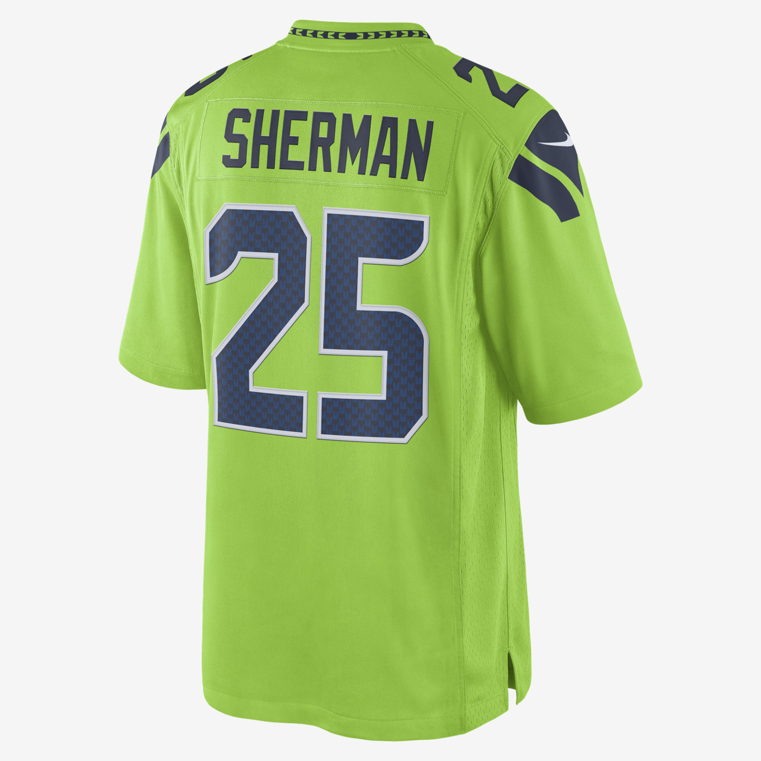 9a715b10a NFL Seattle Seahawks Color Rush Limited (Richard Sherman) Mens Football  Jersey. Nike.