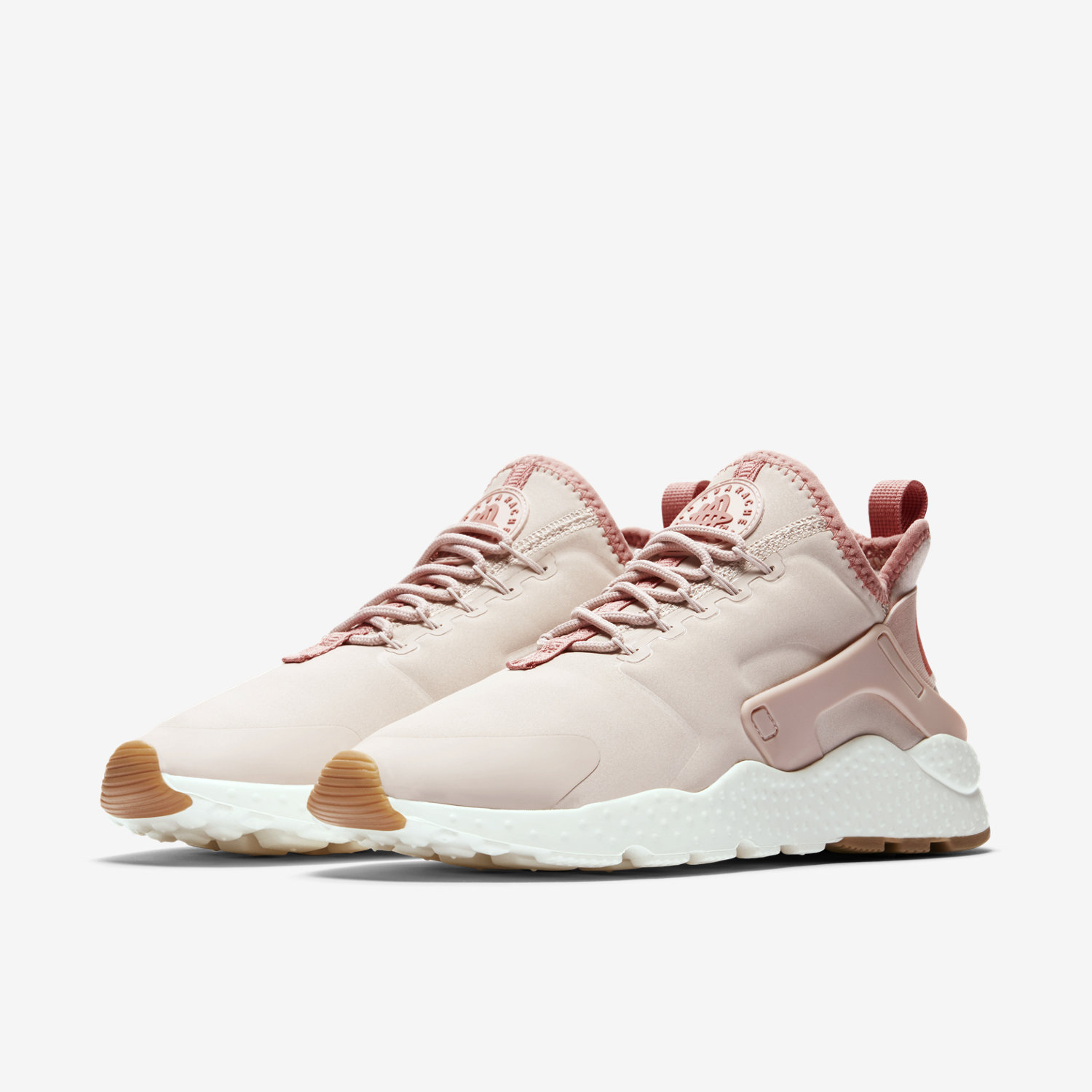 womens nike air huarache light pink orange