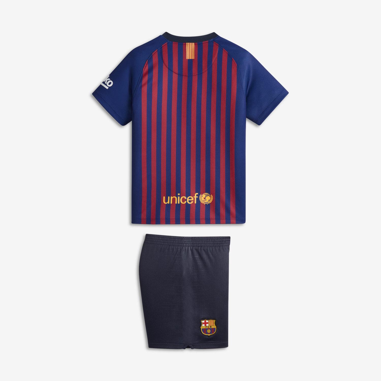 2b2c79a6df2 2018 19 FC Barcelona Stadium Home Younger Kids  Football Kit. Nike.com UK