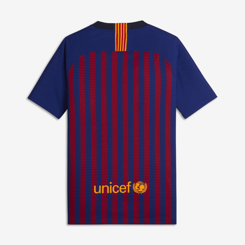 f27cc6b0d30 2018 19 FC Barcelona Vapor Match Home Older Kids  Football Shirt ...