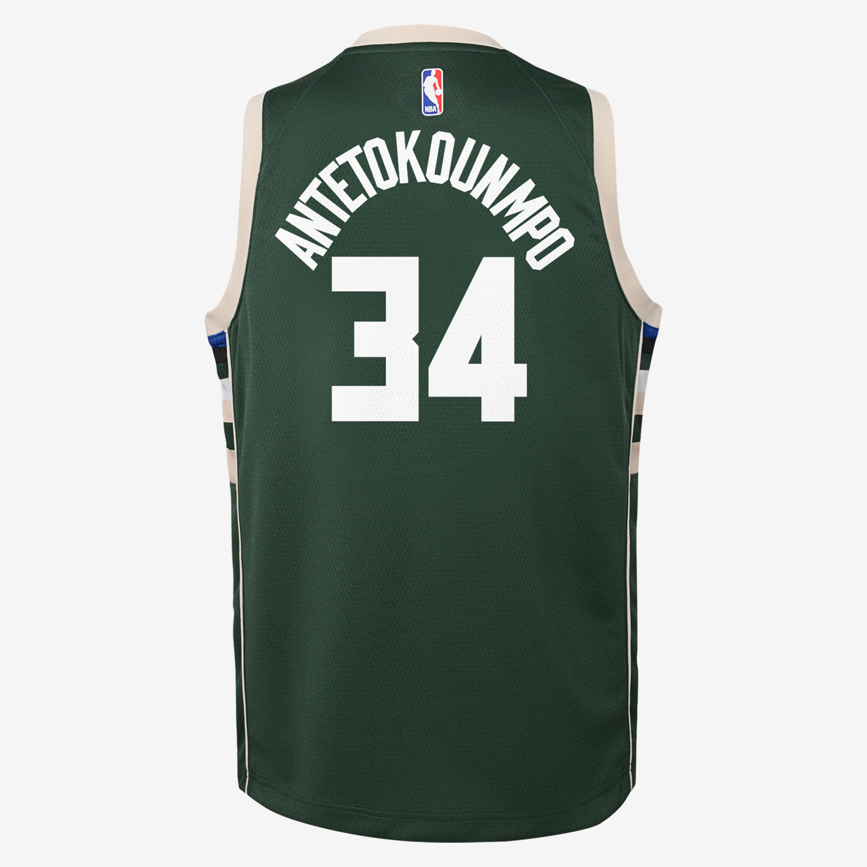 cheap for discount db3d9 646c4 Giannis Antetokounmpo Milwaukee Bucks Nike Icon Edition Swingman Older  Kids' NBA Jersey