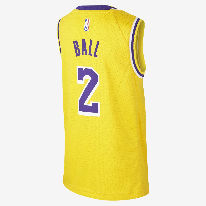 745664cfb Lonzo Ball Los Angeles Lakers Nike Icon Edition Swingman Camiseta de la NBA  - Niño a. Nike.com ES