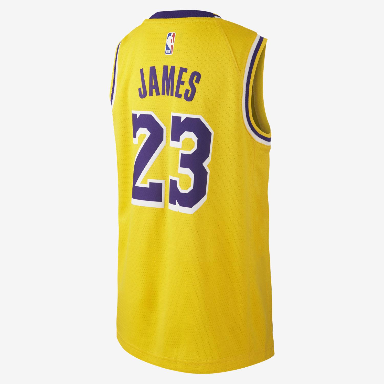 LeBron James Los Angeles Lakers Nike Icon Edition Swingman Older Kids  NBA  Jersey. Nike.com UK b41d4d34a