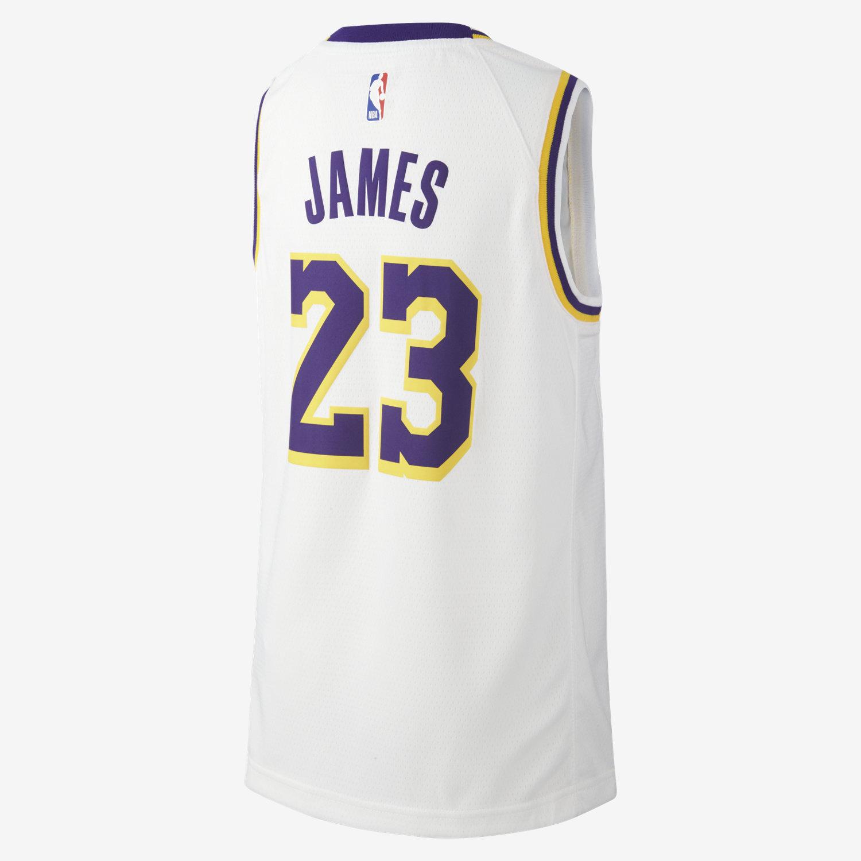 e815b4b9aaf7 LeBron James Association Edition Swingman Jersey (Los Angeles Lakers) NBA-Trikot  für ältere Kinder. Nike.com DE