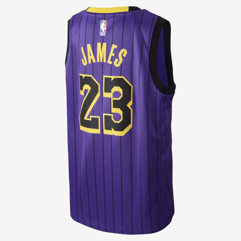 6d7fd5ebfd2 LeBron James City Edition Swingman (Los Angeles Lakers) Older Kids ...