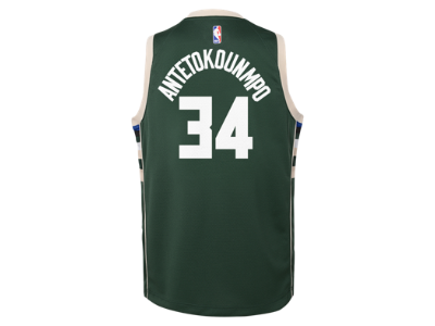 2103b074b98 Giannis Antetokounmpo Milwaukee Bucks Nike Icon Edition Swingman Older Kids'  NBA Jersey. Nike.com UK