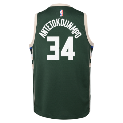cheap for discount 2ba61 ea0f0 Giannis Antetokounmpo Milwaukee Bucks Nike Icon Edition Swingman Older  Kids' NBA Jersey